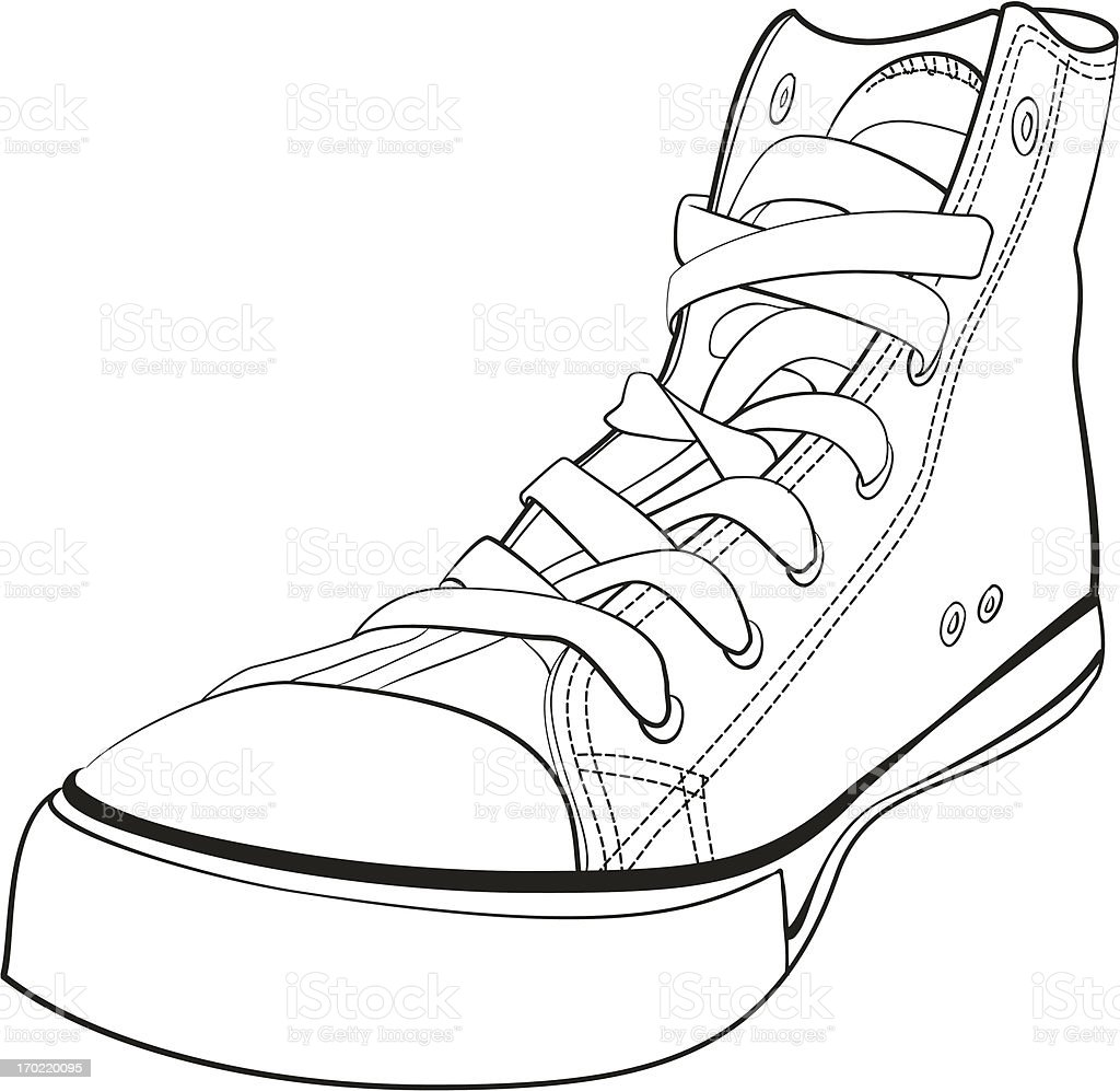 Black and white gumshoes. royalty-free stock vector art