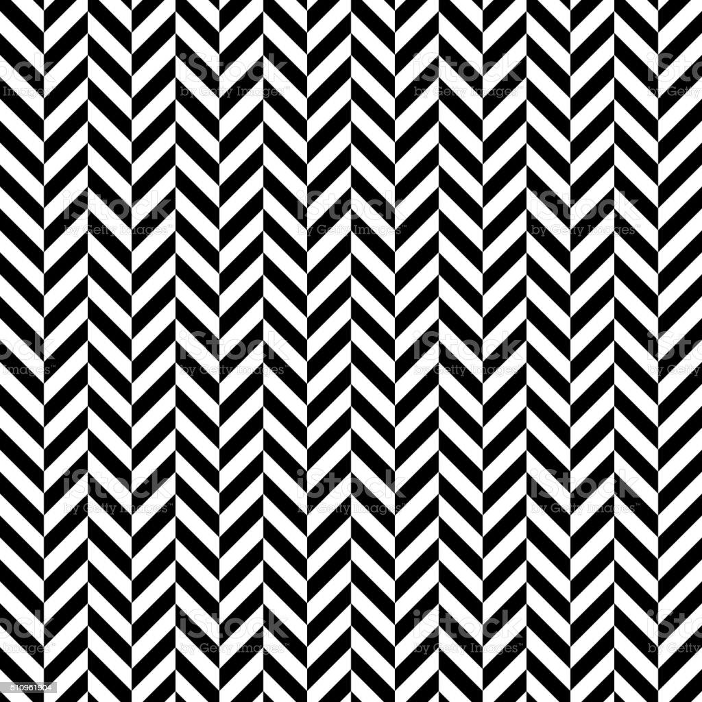 Black and white herringbone pattern vector art illustration