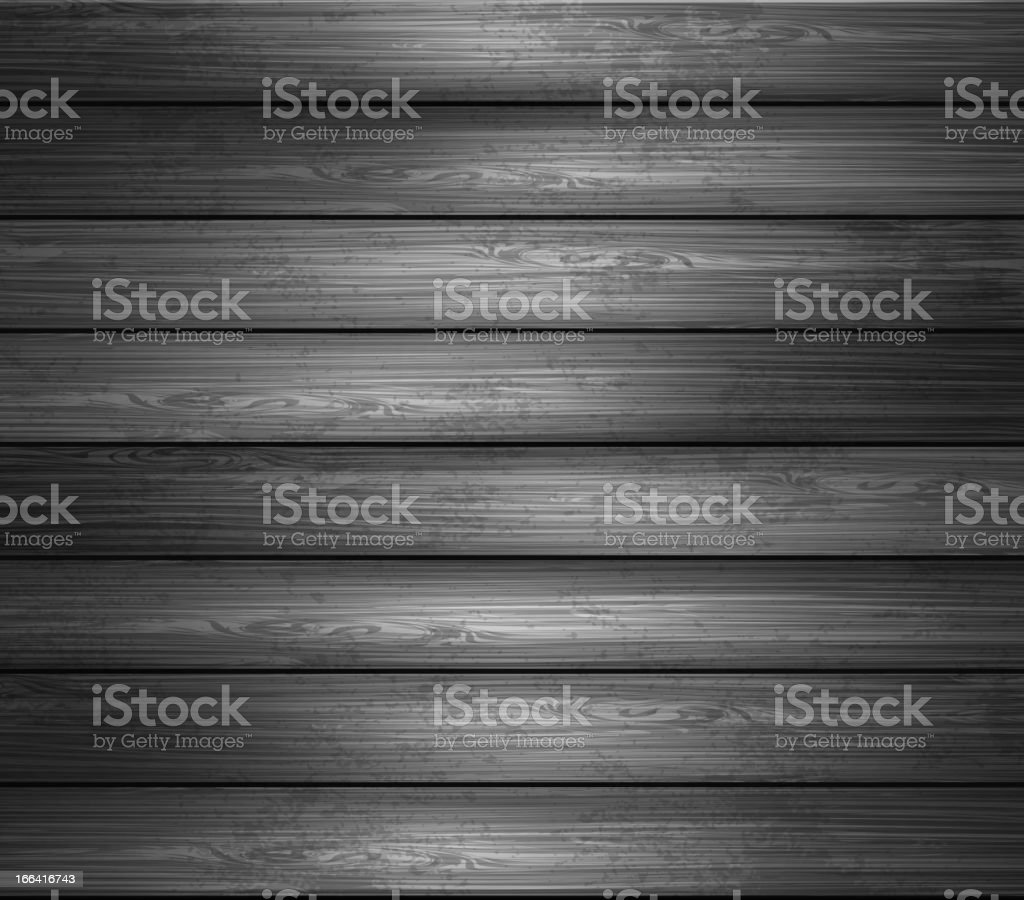 Black and white image of wooden planks vector art illustration