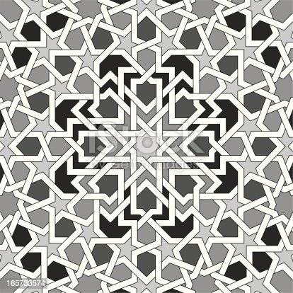 Black And White Islamic Pattern stock vector art 165733574 ...
