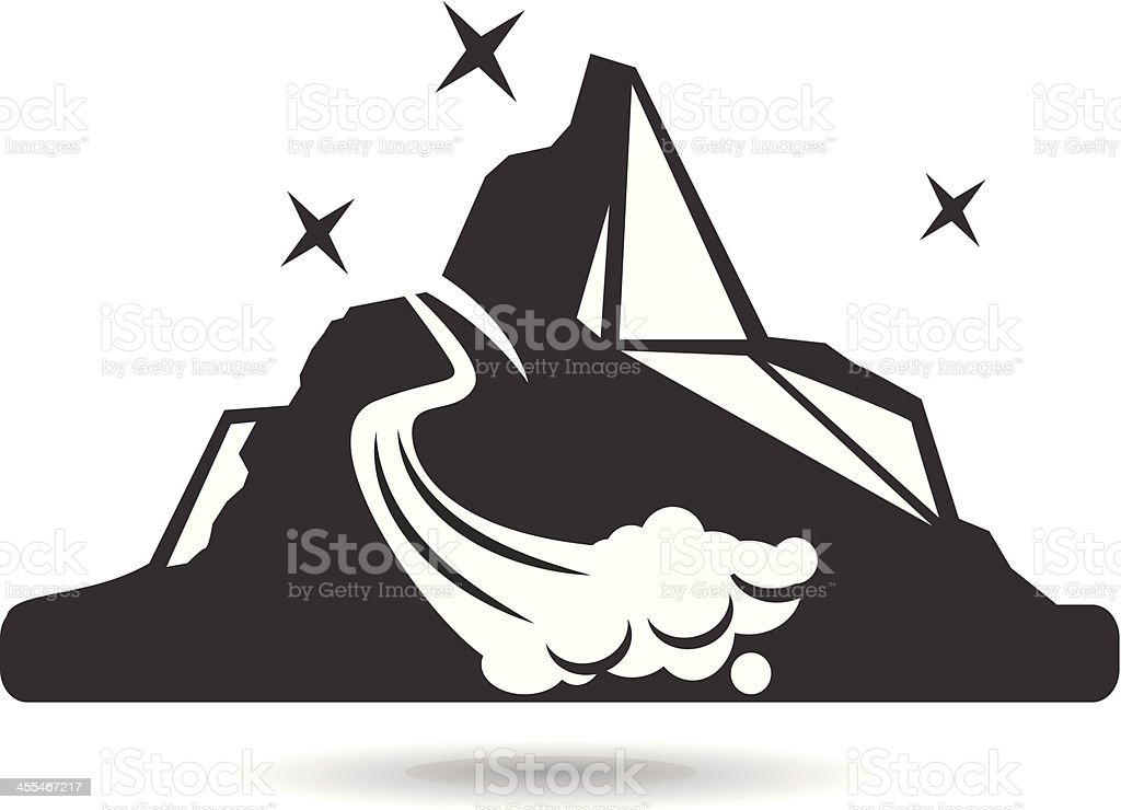 Mountain Scene Clipart Black And White Images & Pictures - Becuo