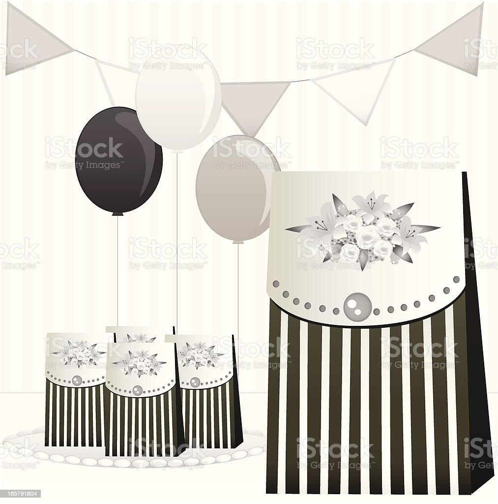 Black And White Party Favors royalty-free stock vector art