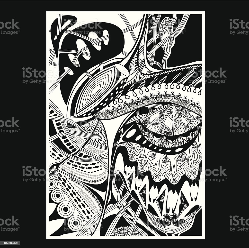 Black and white pattern royalty-free stock vector art