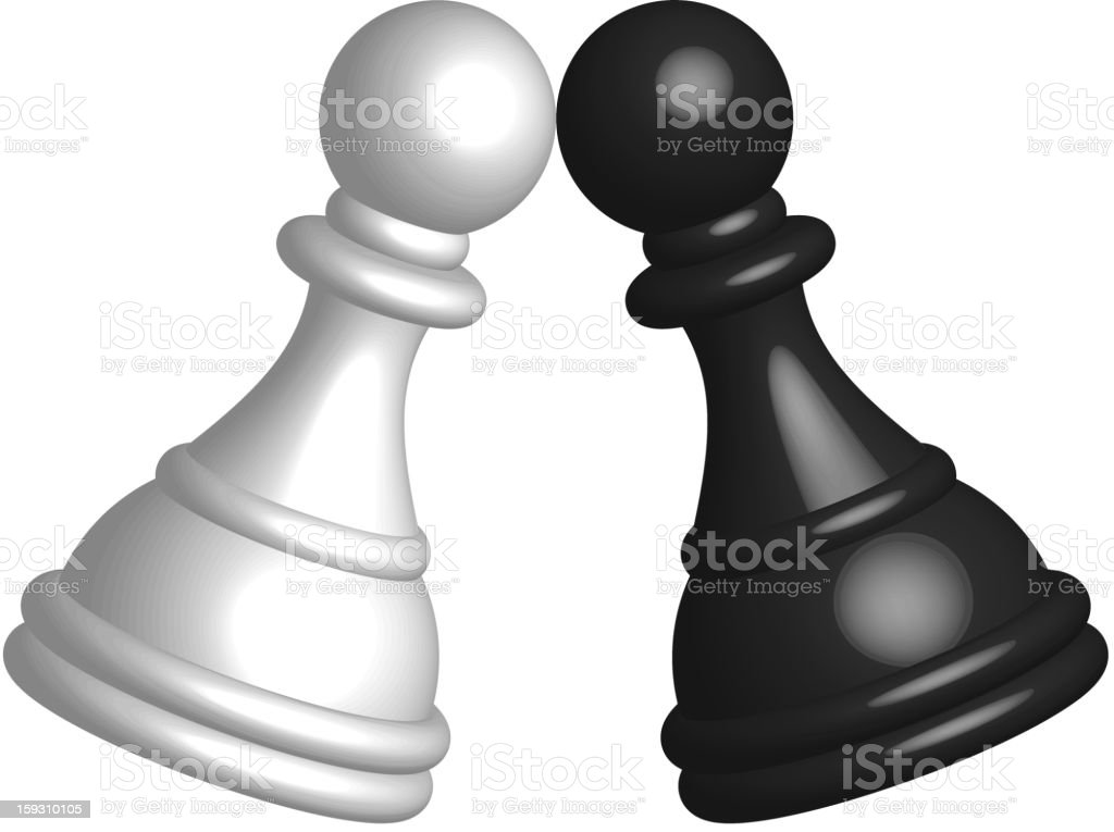 Black and white pawn royalty-free stock vector art