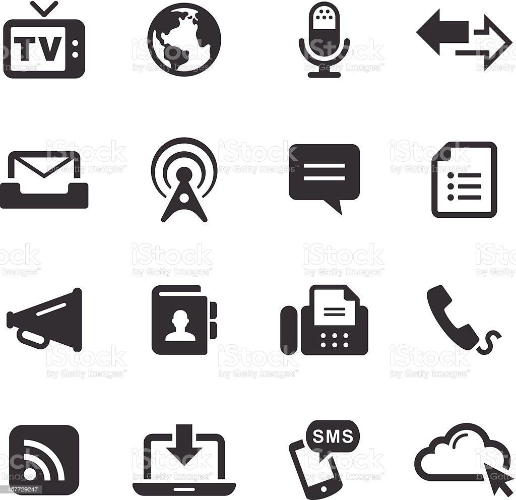 Black and white photo of 16 mono icons  vector art illustration