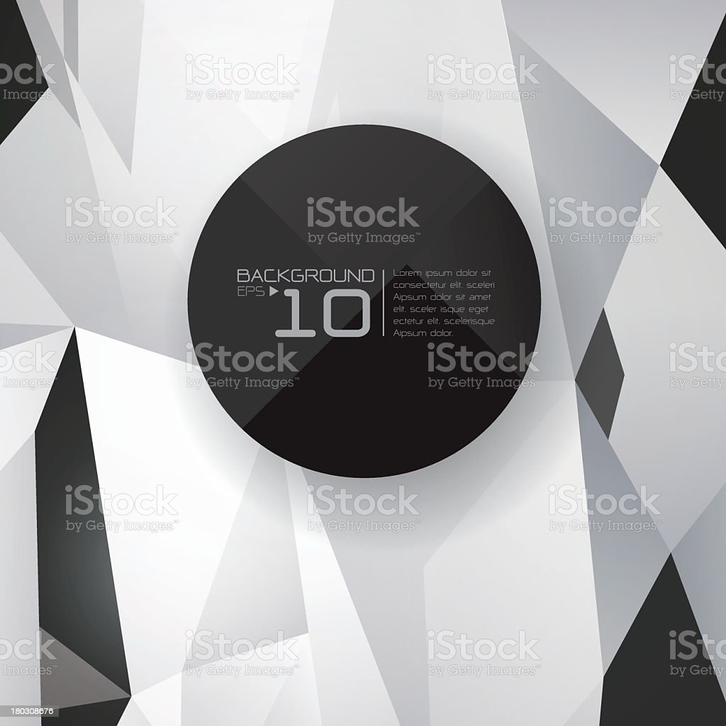 Black and white polygonal design with Background EPS 10 sign royalty-free stock vector art