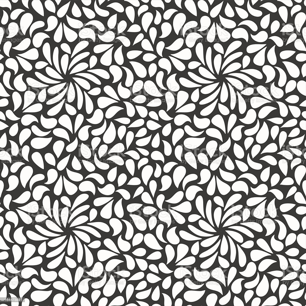 A black and white seamless floral pattern  royalty-free stock vector art