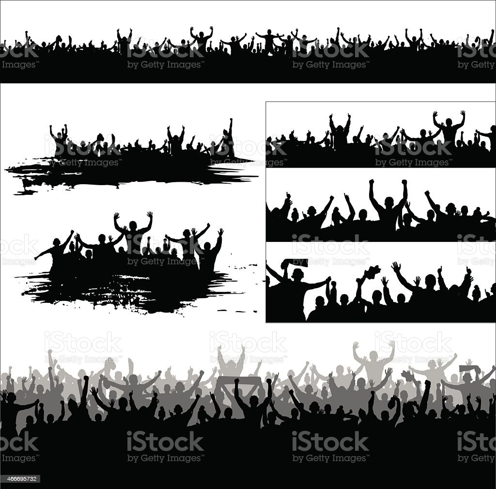 Black and white set banners for sport and concerts vector art illustration