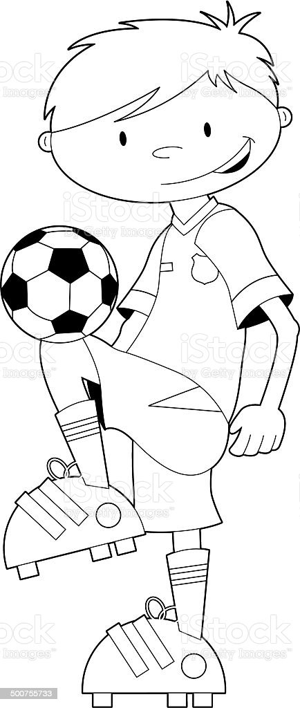 Black and White Soccer Football Player royalty-free stock vector art