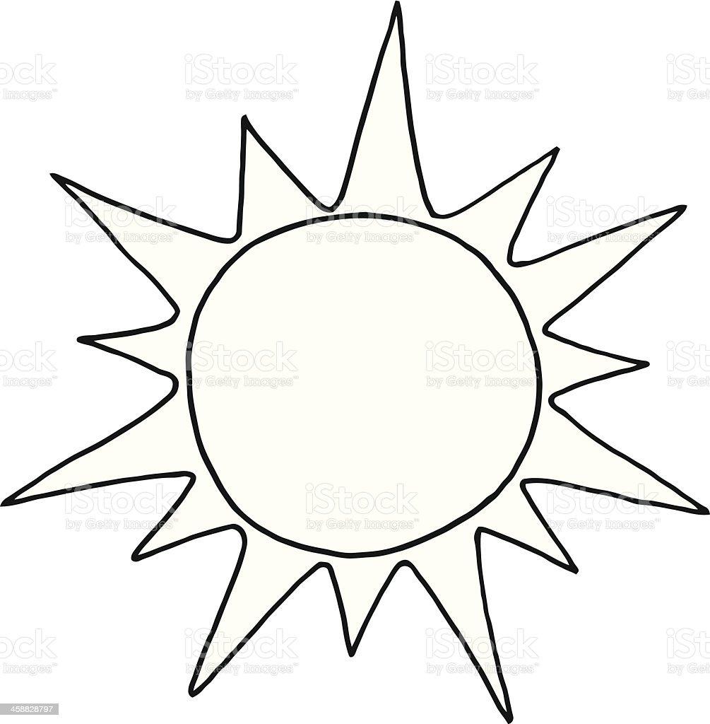 Black And White Sun stock vector art 458828797 | iStock