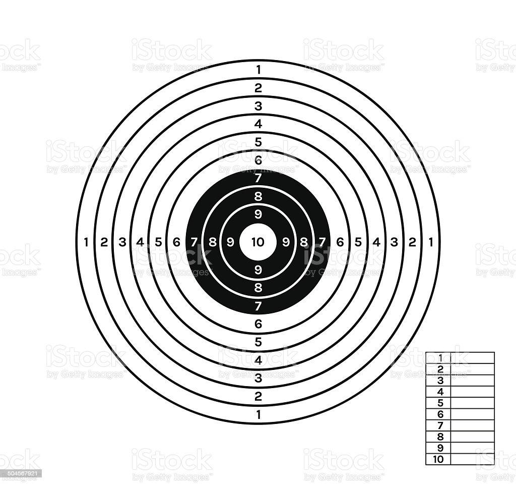 black and white target vector art illustration