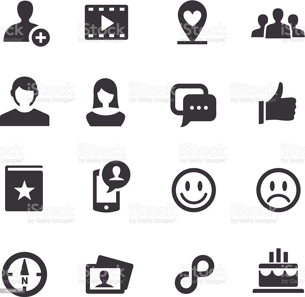 Black and white various social media icons vector art illustration