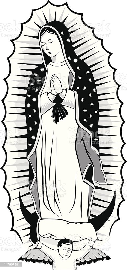 Festival Of The Virgin Of Guadalupe Clip Art Vector Our Of Guadalupe Coloring Page