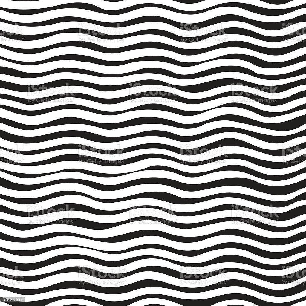 Black And White Wave Background vector art illustration