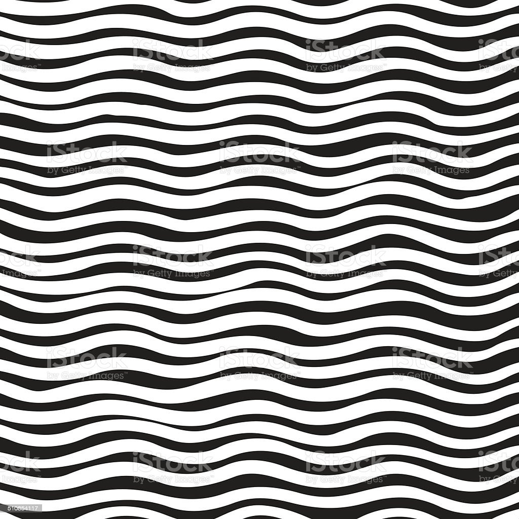 Black And White Wave Background vector art illustration