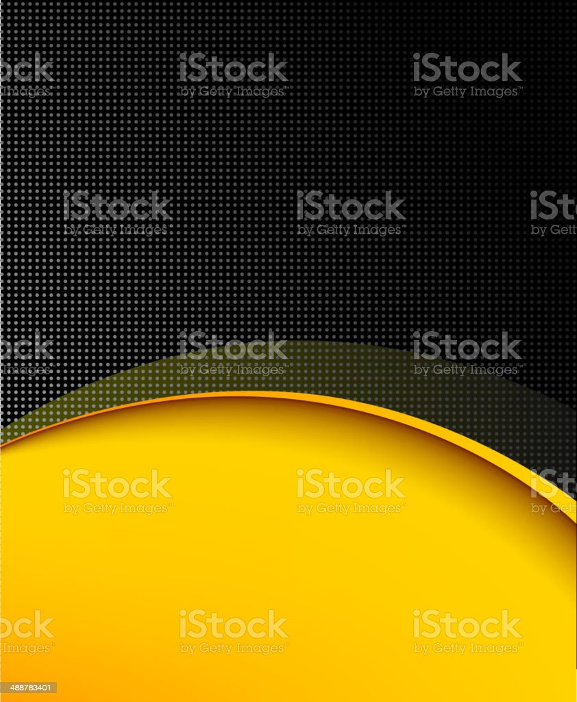 Black and yellow background composition vector art illustration
