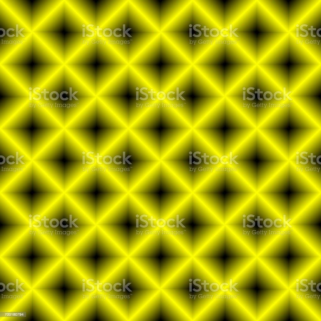 Black and yellow chessboard, abstract geometric background vector art illustration