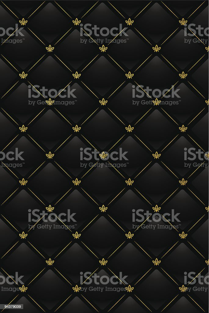 Black and yellow quilted background royalty-free stock vector art