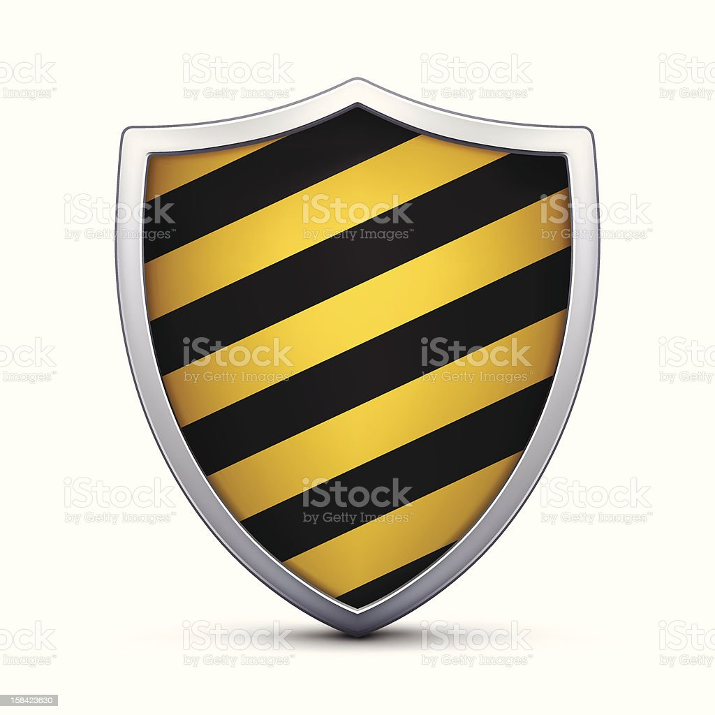 Black and Yellow Shield royalty-free stock vector art