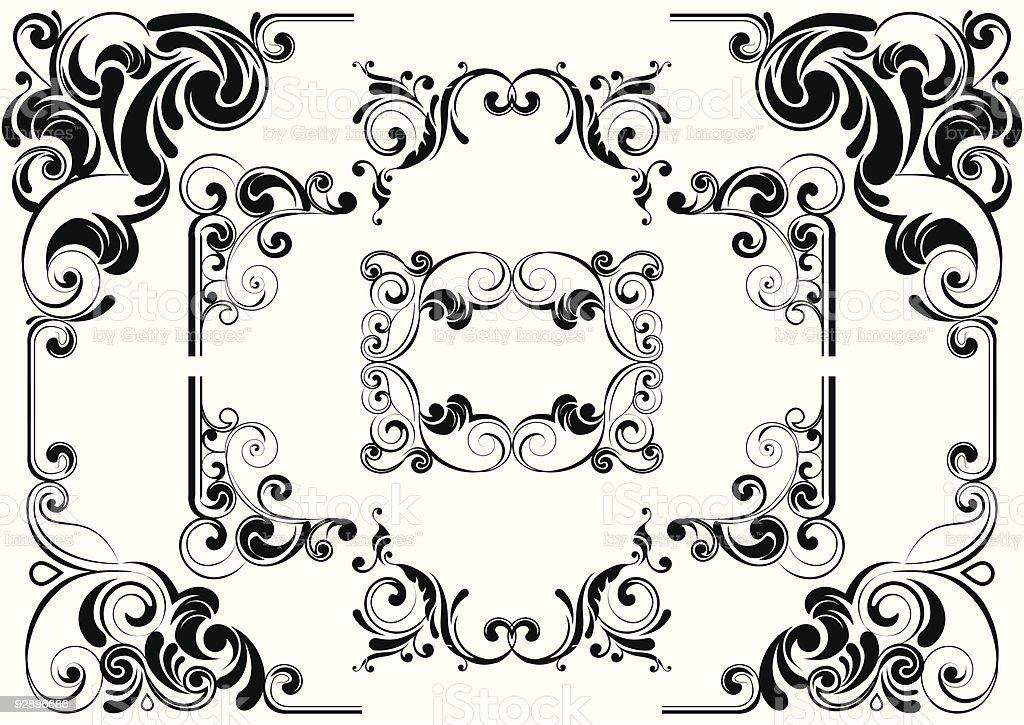 Black angle design vector art illustration