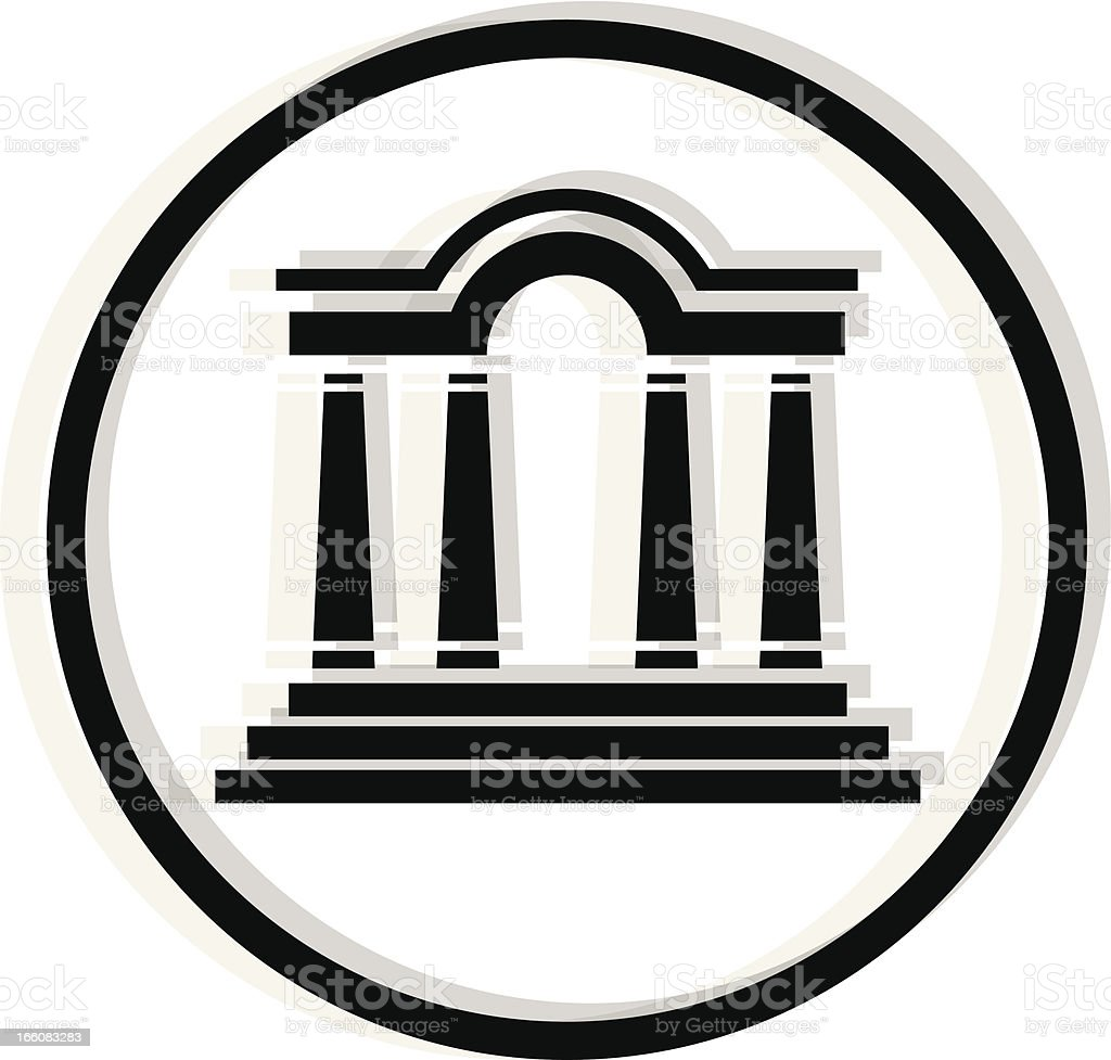 black antique building icon royalty-free stock vector art