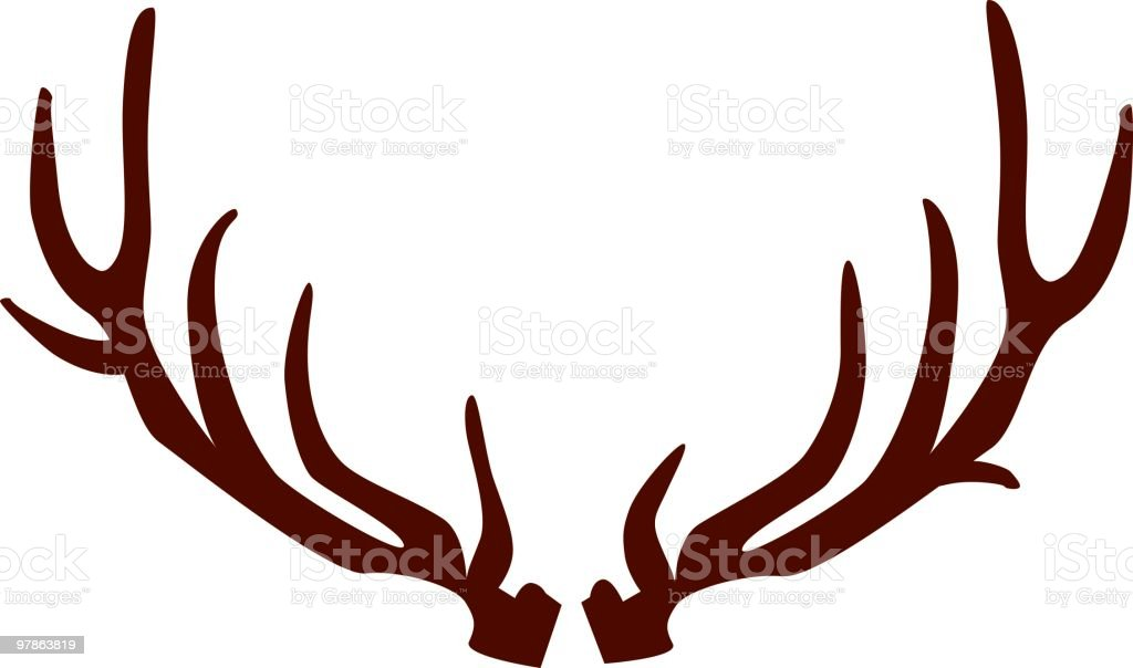 Black antlers on white background royalty-free stock vector art