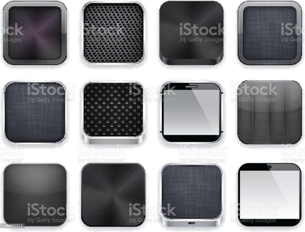 Black app icons. royalty-free stock vector art