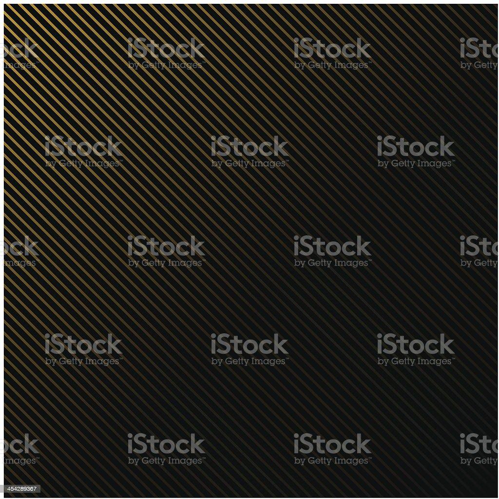 Black background in gold stripes vector art illustration