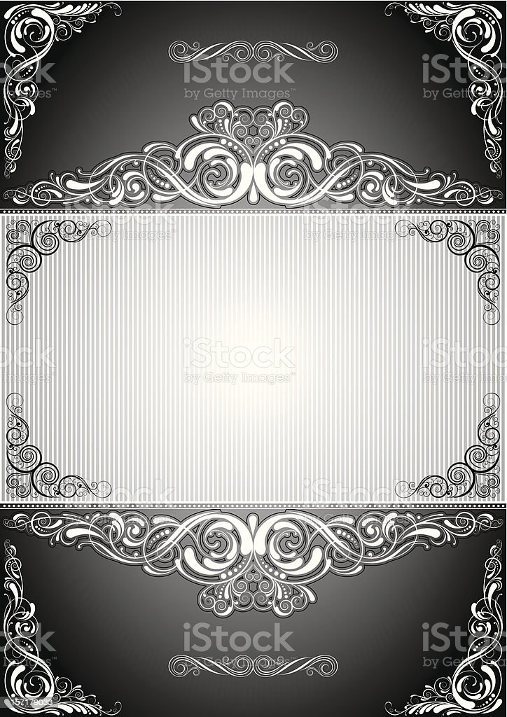 Black background label design royalty-free stock vector art