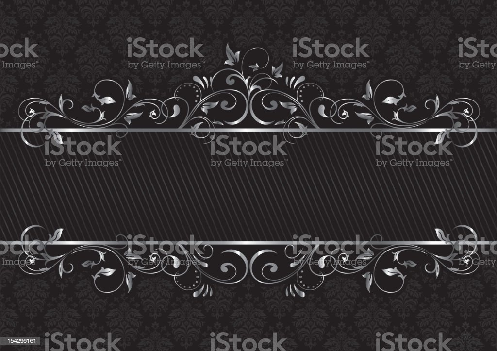 Black background vector art illustration