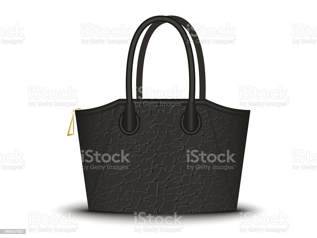black bag on white background vector art illustration