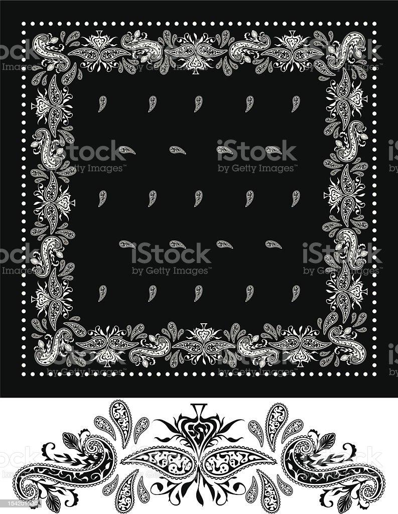 Black Bandana vector art illustration