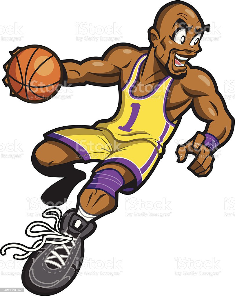Black Basketball Player royalty-free stock vector art
