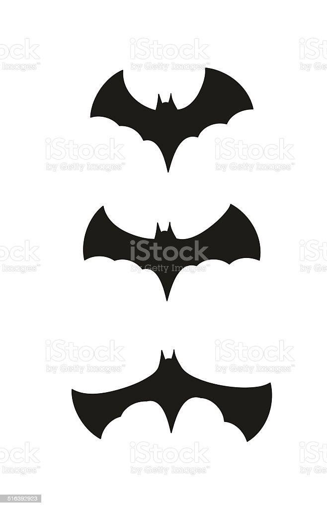 black bats vector art illustration