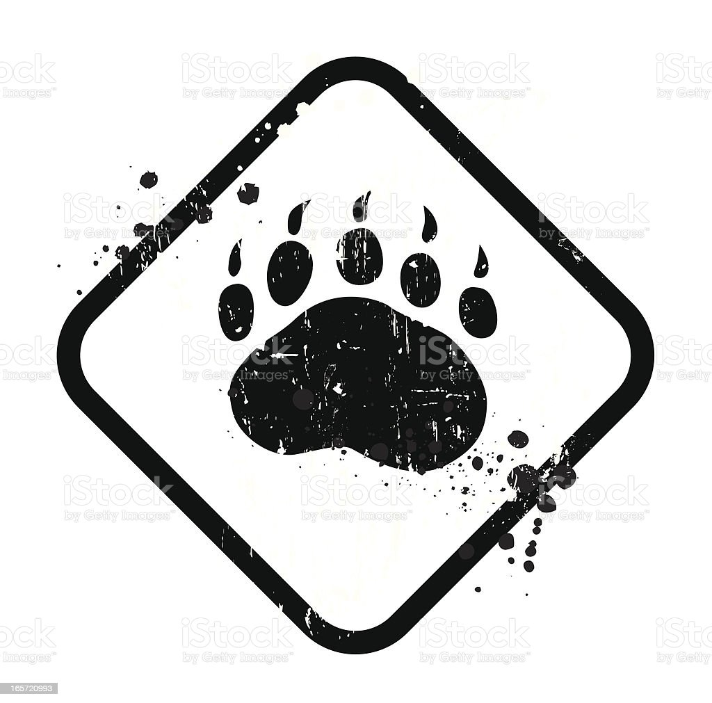 Black bear sign on white background royalty-free stock vector art