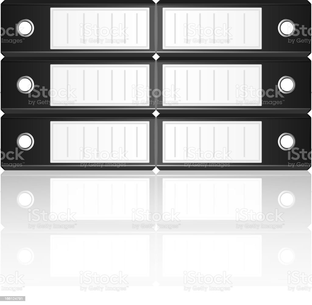Black binders horizontal isolated on white background royalty-free stock vector art