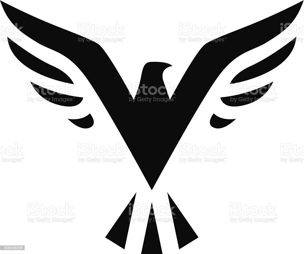 Oiseau noir icône stock vecteur libres de droits libre de droits