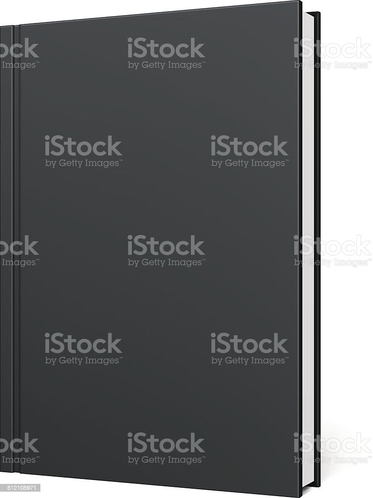 Black Blank Book vector art illustration