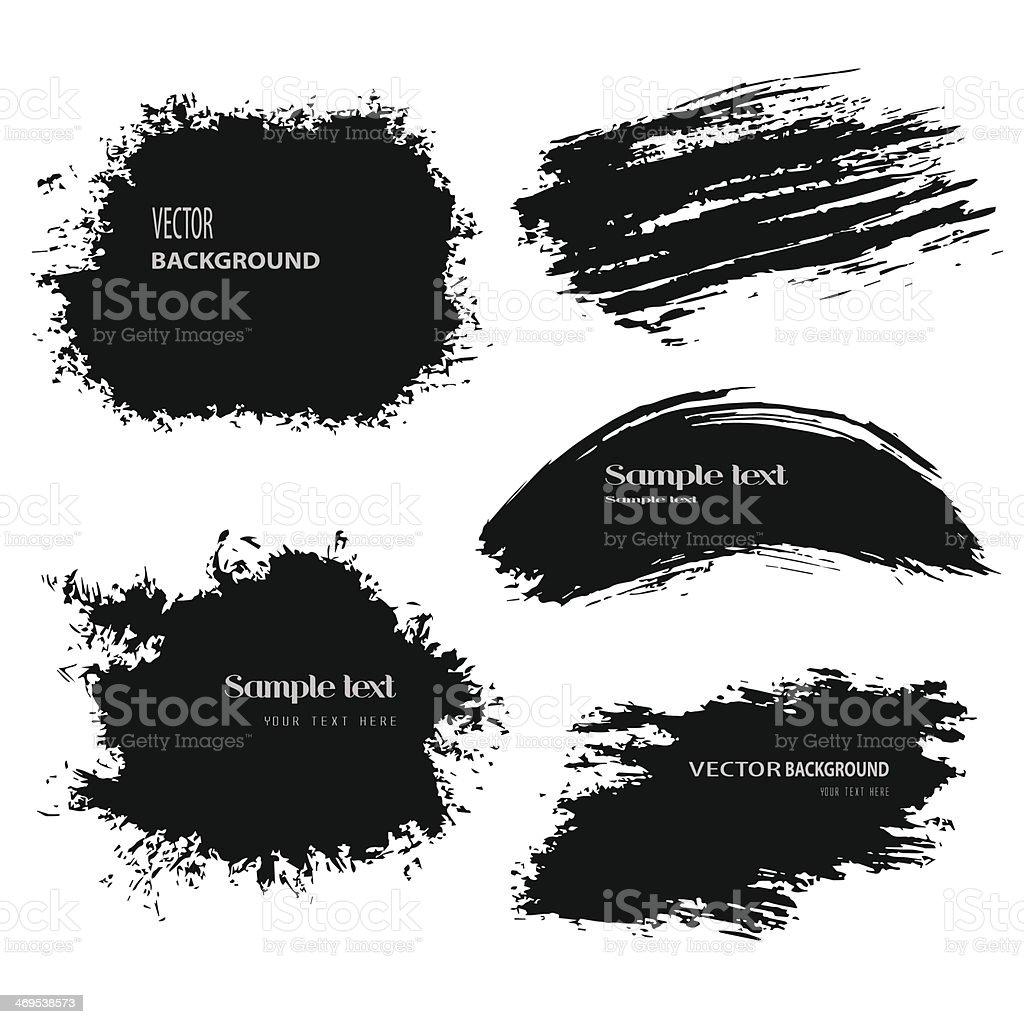 black blobs vector art illustration