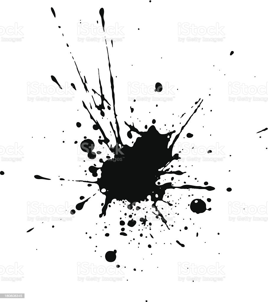 Black blotch vector art illustration