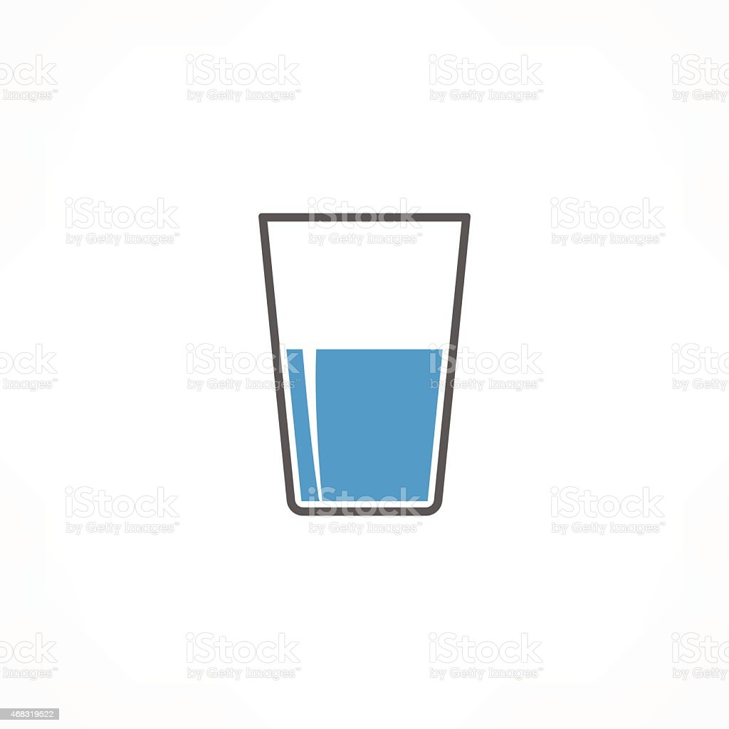 Black, blue, and white drink icon on white background vector art illustration