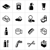 Black Body Care Icons