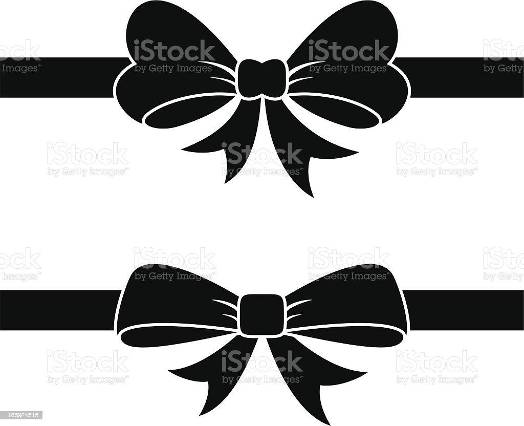 Black Bow vector art illustration