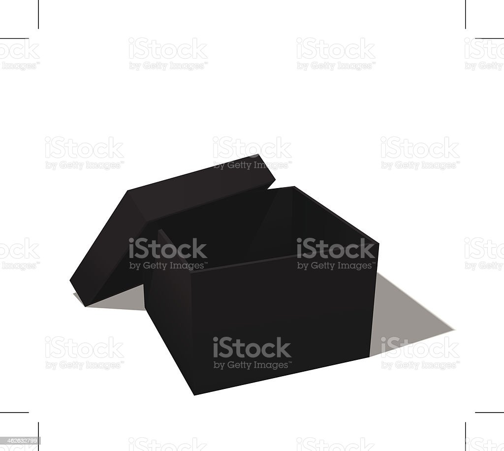 black box vector art illustration