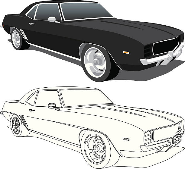 Camaro Clip Art, Vector Images & Illustrations - iStock