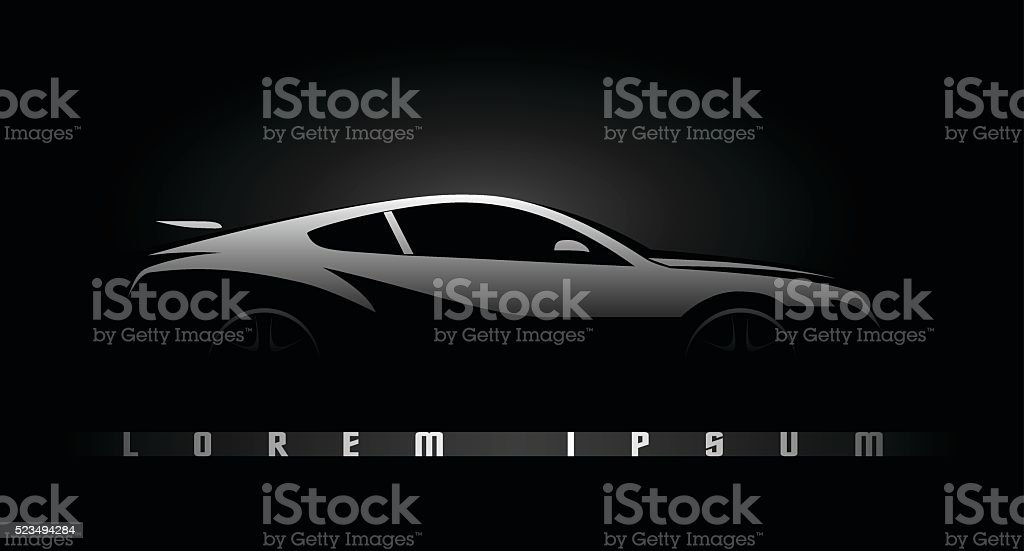 Black car silhouette vector art illustration