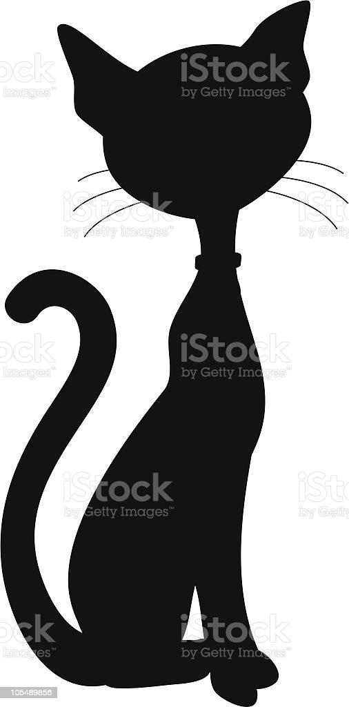 Black Cat Silhouette vector art illustration