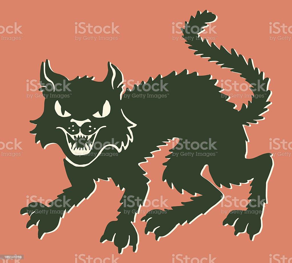 Black Cat vector art illustration
