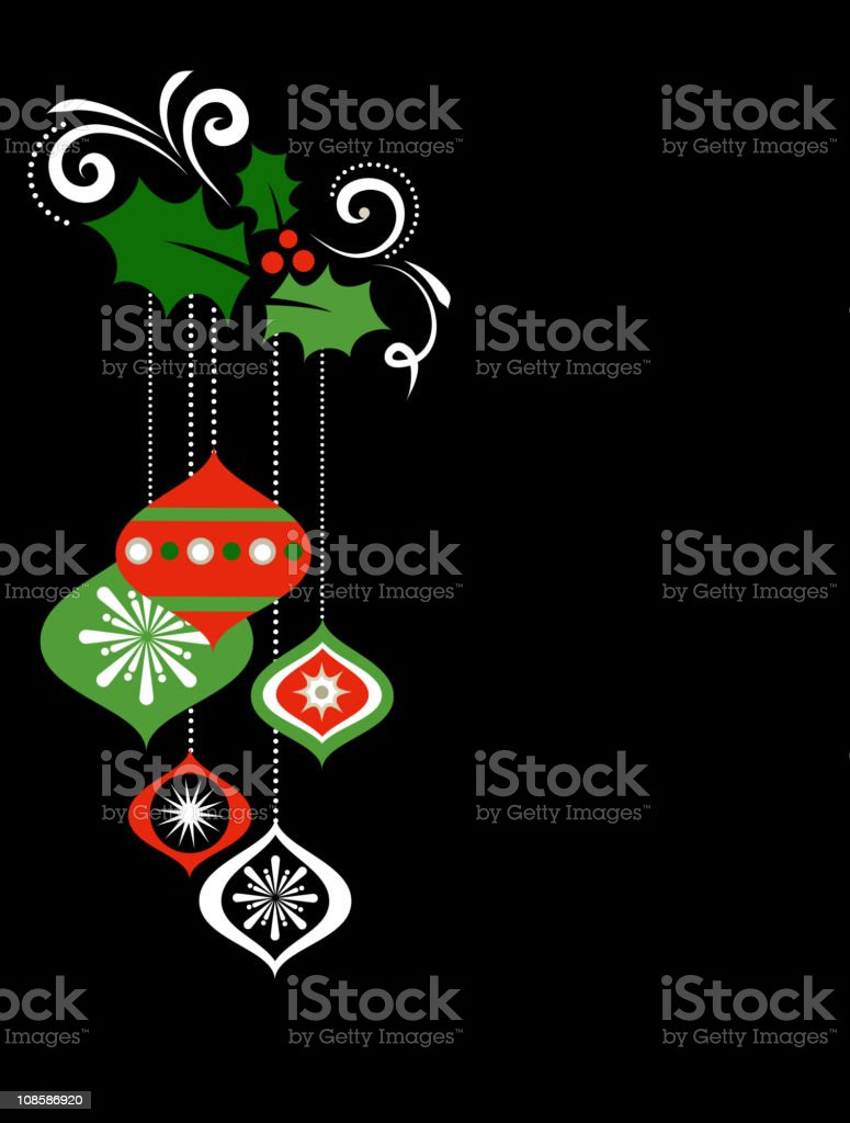 Black Christmas background royalty-free stock vector art