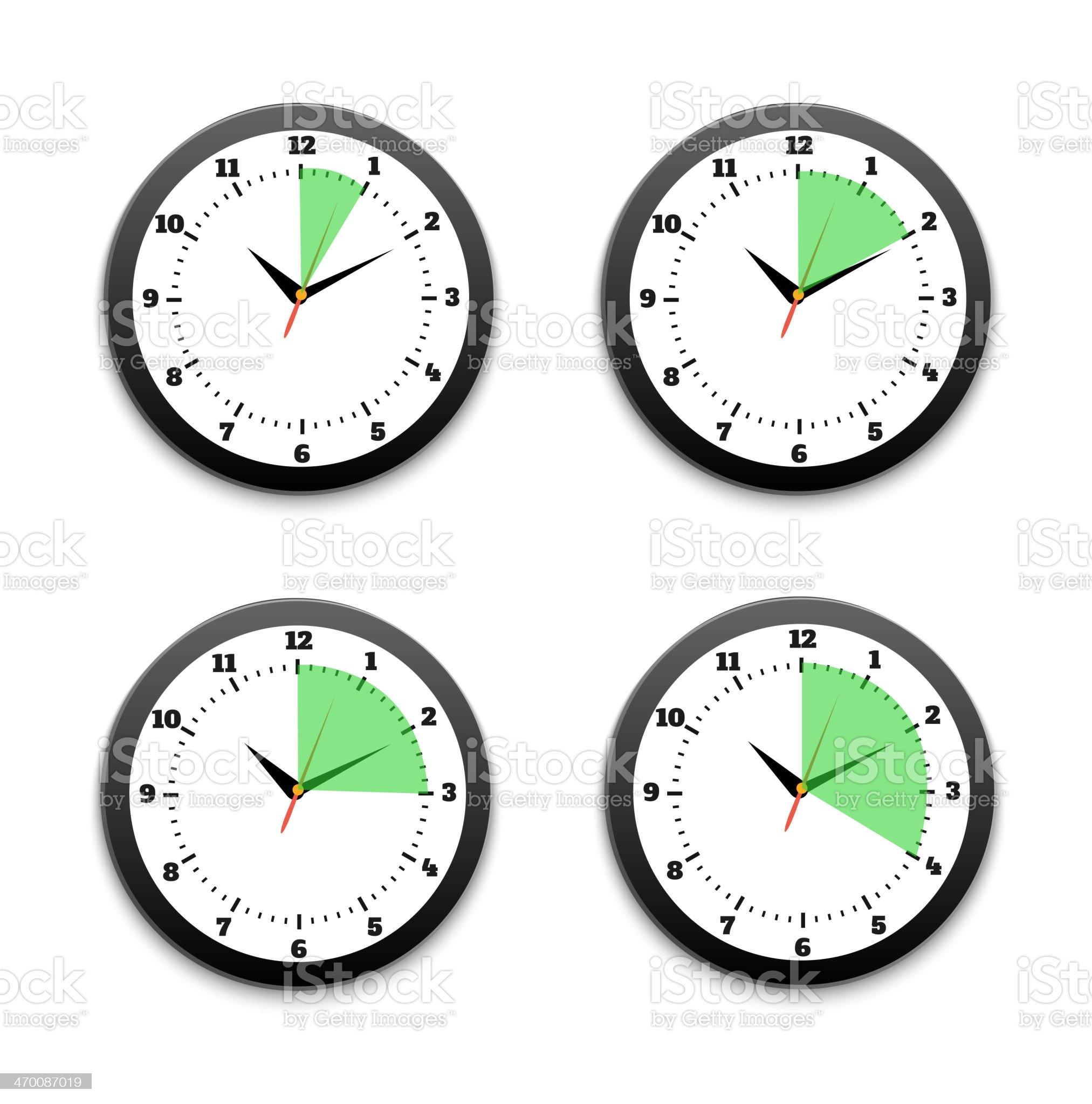 Black clocks icon royalty-free stock vector art